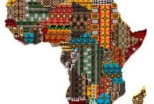 african dresses/ head wraps and collars