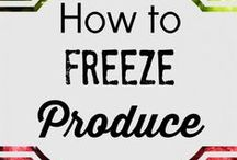 freezing vegetables, fruits and canning