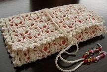 Crocheted Hook Cases - Porta uncinetti