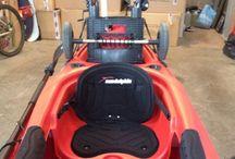 My kayak mods. Milk crate trolley. / Kayak fishing