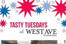 Tasty Tuesdays / Every Tuesday all of our West Ave restaurants have special pricing on cocktails and appetizers from 5-7pm. You can park and walk to all of them and try each of them!