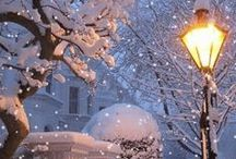 *Amid the Falling Snow*
