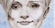 Kasia Oetelaar Art / Portrety (i nie tylko) wykonane różnymi technikami / Portraits (and not only) drawn in mixed media styles