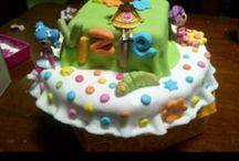 birthday cake / lalaloopsy cake