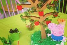 ideas cumple de peppa / decoración temática para cumpleaños de peppa y george.