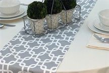 Table Runners with Decorations
