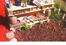 Daycare Outdoor Ideas / Ideas for your outdoor space!  Let nature shine in the outdoors!