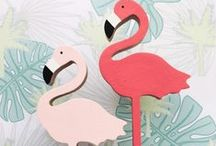Wee love Tropicana! / Pinapples, palm trees, and of course FABULOUS FLAMINGOS - what more could you want?