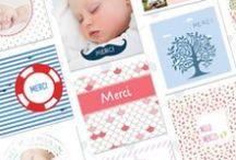 Cartes de remerciements naissance / Votre bébé a été très gâté pour sa naissance, et il vous comble de bonheur. C'est donc l'occasion de créer des cartes de remerciements pour vos proches et amis.