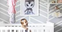 Nursery Pink + Gray / Ideas for decorating a baby girl's nursery in pink and gray tones.