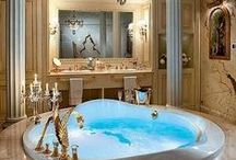 "♔ Salles de Bain de Luxe / Luxury Bathrooms  ♔ Bienvenue...S-v-pl Traité Mes ""Tableaux"" avec Respect. Merci. ● ♔ ● Welcome! ♔ Please pin respectfully. Thank you.♔  / by Misha Alexis"
