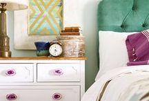 Teen Room Fuchsia + Grape + Teal / Decor ideas for a teen girl's bedroom in purple grape, fuchsia pink, and teal.