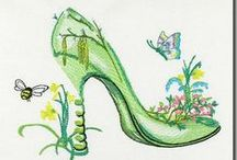 Sally King's Artwork in Machine Embroidery / Here you will find scrumptous,delightful,& just plain fun Machine Embroidery Designs based on the artwork of © Sally King. Sally is renowned for her fanciful shoes, cupcakes, masks, cottages & more. Use your machines to stitch out these designs which are digitized exclusively by BFC-Creations.com.  Enjoy,  be creative, & if you wish,  you can #SELL your creations with Sally's blessings. Visit Sally's website here: http://www.sallykingdesign.com/