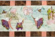 Fairy World Quilt Series / Here you'll find a fantastical series of designs perfect for Quilts. The designs are based on a vintage Fairy Tale.  We plan on there being 5 sets... but we love these so much, that could change. All who purchase will receive #FREE Quilt Instructions based on the Quilt as you Go method. As of this point the quilt instructions are complete only for The Cloud Makers. The others are being worked on and will be emailed to buyers when completed.