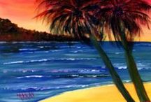 Paint and Party - Paint and Sip / Original painting designs created by Maxie Makay for Paint and Party and Paint and Sip art classes at I Paint Today.