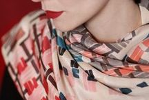 """Bistro"" scarves / ""Bistro"" silk scarves collection by SuTurno http://www.suturno.net/  Photo: Lourdes Cabrera http://www.lourdescabrera.es/ Model: Andrea Pimentel"