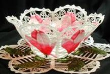 Free Standing Lace Bowls / Make these for yourself or for a beautiful, unusual and unique gift!