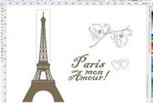 Progetto Parigi / Realizzazione di uno stencil su muro raffigurante la Tour Eiffel