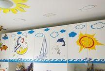 Decorazione armadio cameretta bambini / Abbellimento delle ante di un armadio con decorazioni realizzate personalmente con taglio di pellicole adesive mediante plotter