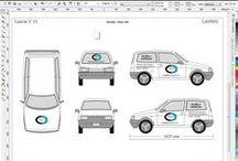 Decorazione auto con scritte / Personalizzazione auto con scritte e loghi proprietari