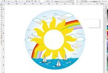 Decorazione soffitto / Realizzazione di decorazioni stampate su cartoncino e applicate su fogli di polistirolo spessore mm.8