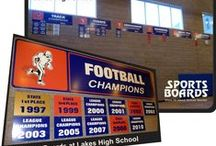 Sports Boards / We've been providing schools with record boards, roster boards, Sports Boards and other school spirit products for over 25 years.