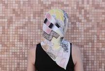 """Tiles"" scarves"