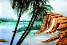 Acrylic Seascapes, Oceans and Water Paintings / Acrylic Paintings for Even the Beginner