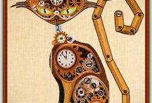 Steampunk Machine Embroidery Designs / #Steampunk# Designs are fun and creative!