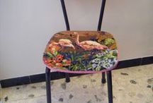 Canevas récup recyclés - Recycled canvas - Upcycling Tapestry