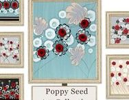 Poppy Seed Art / Wall art for the home from Amborela's Poppy Seed Collection
