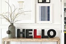 Welcome Home / Home design ideas and elements that make us feel right at home.