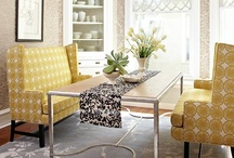 Bold Pattern / Take a big step and use bold pattern in your home decor.