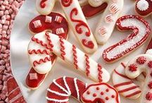Christmas Cookies, Candies and Food Gifts  / Get inspired by these prettily decorated (& yummy) holiday treats. Get more cookie recipes at http://www.bhg.com/christmas/cookies/