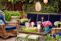 Pretty Patios and Porches / Get inspired to create the perfect outdoor space for entertaining! http://www.bhg.com/home-improvement/patio/ / by Better Homes and Gardens