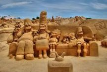 Wonder Of Sand / Sand art is the practice of modelling sand into an artistic form, such as a sand brushing, sand sculpture, sand painting, or sand bottles. follow & enjoy.
