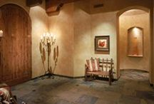 Elegant Entryways   / Does your home make a statement from the moment guests walk in? Arizona Tile can help wow your guests with spectacular medallions and unusual combination suggestions sure to please.