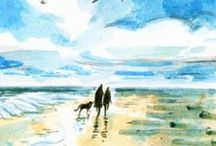 Beach Illustrations / A collection of beach illustrations by Lindgren & Smith artists