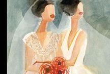 Wedding Illustrations / A selection of Wedding themed artwork by Lindgren & Smith illustrators.