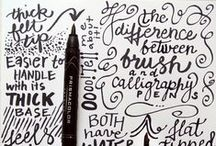 Write / handwriting, hand lettering, typography, fonts, type, it's all beautiful