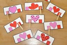Valentine's Day Themed Activities / This board contains printable, hands-on Valentine's Day themed learning activities