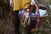 Autumn / warm colors, fallen leaves, crisp apples, plump pumpkins, tricks + treats