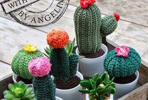 Crochet Cactus / Gehaakte cactussen
