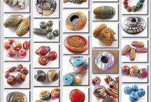 Polymer Clay Beads / Klei kralen....