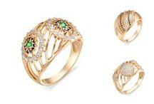 """Коллекция """"Отражение"""" Радианс / Кольца из золота 585 пробы с полудрагоценными камнями и фианитами"""