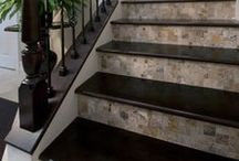 Tile Stairs & Staircases / Uses of tile and mosaics in #tile #stairs and staircases