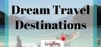 Dream Travel Destinations / A collection of various dream travel destinations bucket lists. Beautiful places around the world to spark your wanderlust.