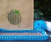 "Crochet bag ""jutte"" / Allerlei varianten van gepimpte jutte tassen bv AH"