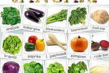 Seizoen's groenten en fruit / Allerlei groenten en fruit in verschillende seizoenen