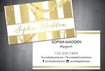 Business Card Designs / Business card designs, business card templates in various styles. Personalized for you. Etsy.com/shop/PrintBerry.